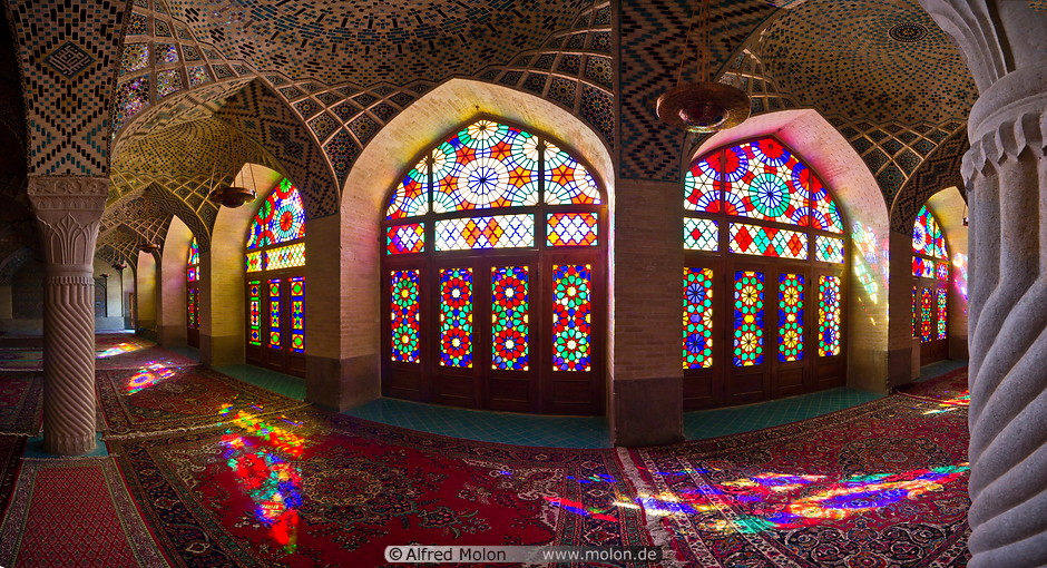11 Stained glass windows in winter prayer hall